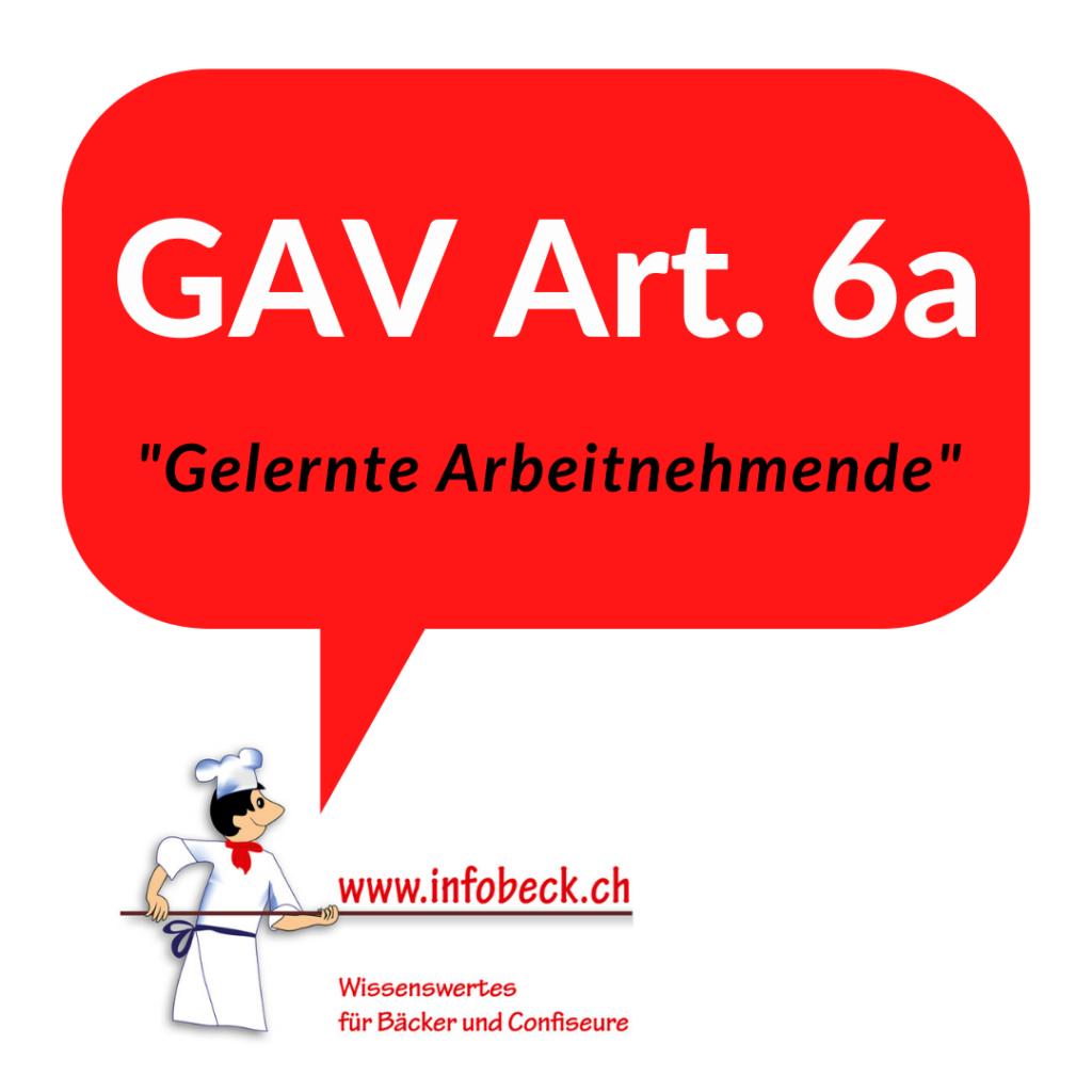 GAV Art. 6, gelernte Arbeitnehmende