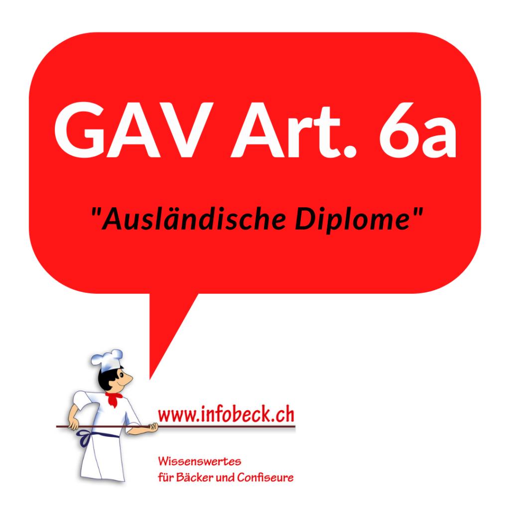 GAV 6a Ausländische Diplome