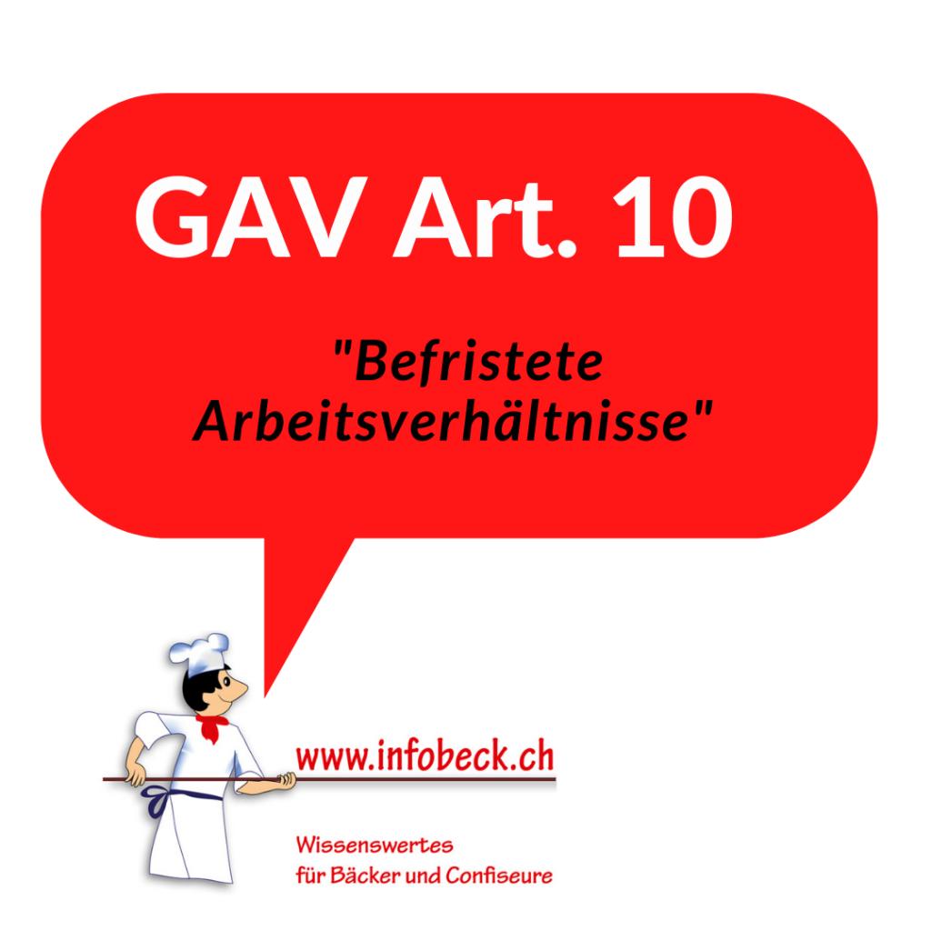 GAV Art. 10, befristete Arbeitsverhältnisse